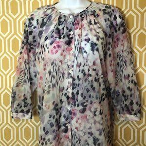 Petite apartment nine button up blouse